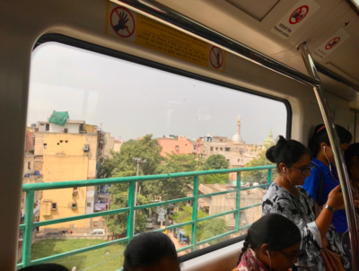 Riders on the Delhi Metro