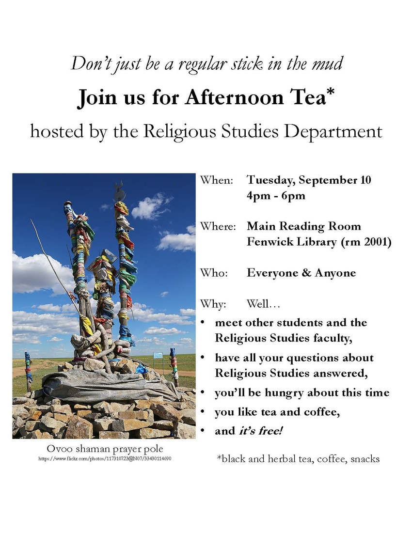 Afternoon Tea with the Religious Studies department