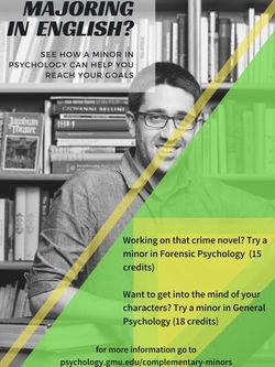 English to Psychology flyer