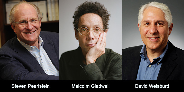 Steven Pearlstein, Malcolm Gladwell, and David Weisburd.