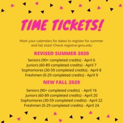 Time Tickets: Summer and Fall 2020