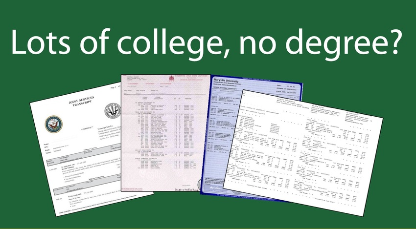 Lots of college no degreee