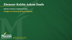 Graduation Slide for Ebenezer Kobbie Ackom Daafo