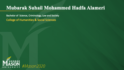Graduation Slide for Mubarak Suhail Mohammed Hadfa Al