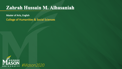 Graduation Slide for Zahrah Hussain M Alhasaniah