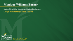 Graduation Slide for Monique Williams Barner