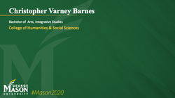 Graduation Slide for Christopher Varney Barnes