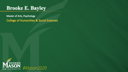 Graduation Slide for Brooke E Bayley