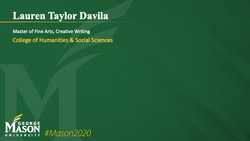 Graduation Slide for Lauren Taylor Davila
