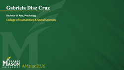 Graduation Slide for Gabriela Diaz Cruz