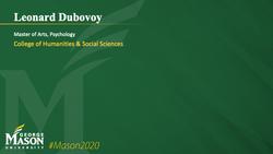 Graduation Slide for Leonard Dubovoy