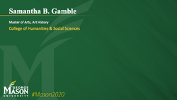 Graduation Slide for Samantha B Gamble