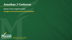 Graduation Slide for Jonathan J Gutierrez