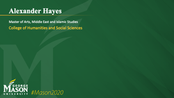 Graduation Slide for Alexander Hayes