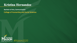 Graduation Slide for Kristina Hernandez