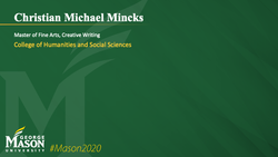 Graduation Slide for Christian Michael Mincks