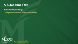 Graduation Slide for S E Johanna Olin