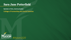 Graduation Slide for Sara June Potterfield