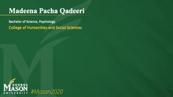 Graduation Slide for Madeena Pacha Qadeeri