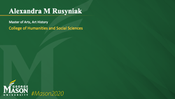 Graduation Slide for Alexandra M Rusyniak