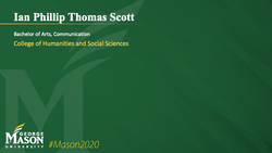 Graduation Slide for Ian Phillip Thomas Scott