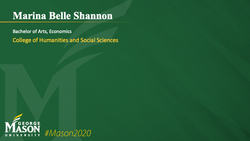 Graduation Slide for Marina Belle Shannon
