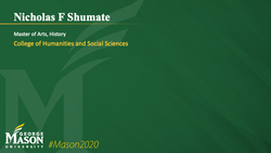 Graduation Slide for Nicholas F Shumate