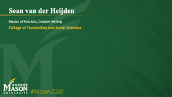 Graduation Slide for Sean van der Heijden