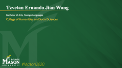 Graduation Slide for Tzvetan Ernando Jian Wang
