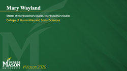 Graduation Slide for Mary Wayland