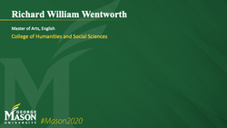 Graduation Slide for Richard William Wentworth