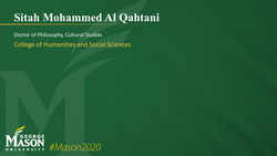 Graduation Slide for Sitah Mohammed Al Qahtani