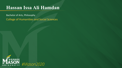 Graduation Slide for Hassan Issa Ali Hamdan