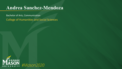 Graduation Slide for Andrea Sanchez-Mendoza
