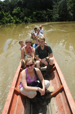 Traveling from Iquitos to the Ecolodge.