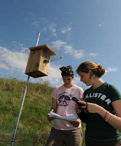 Integrative Studies students conduct bird research at the Smithsonian-Mason School of Conservation in Front Royal, VA.