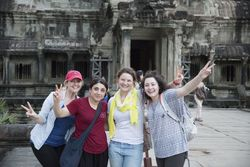 GMU students at Angor Wat temple Cambodia