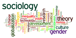 Word cloud representing our Sociology Program